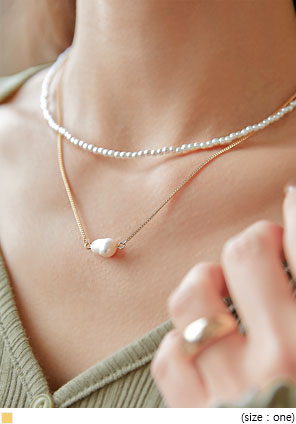 [JEWELRY] ARIS PEARL LAYERED NECKLACE