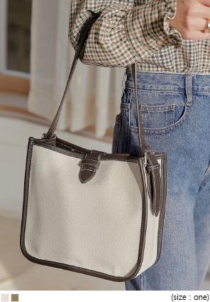 [BAG] MARKER COTTON SHOULDER BAG