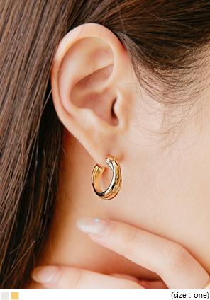 [JEWELRY] LEDIN DOUBLE BOLD RING EARRING