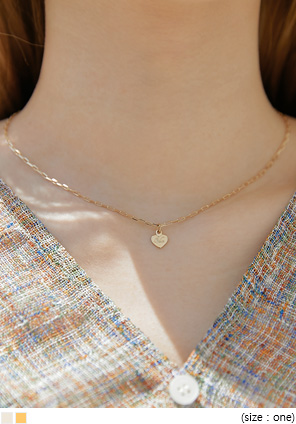 [JEWELRY] ANES HEART PENDANT NECKLACE