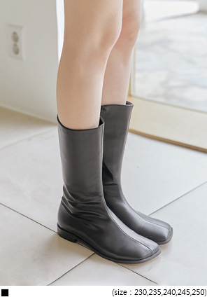 [SHOES] ENZY SQUARE MIDDLE BOOTS