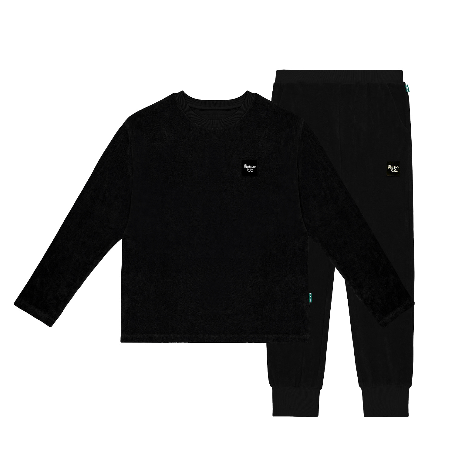 FLAKIKI AT HOME TERRY SET UP_BLACK(RESTOCK)