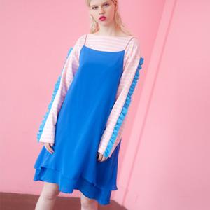 (SALE 80%) LAYERED SILK DRESS