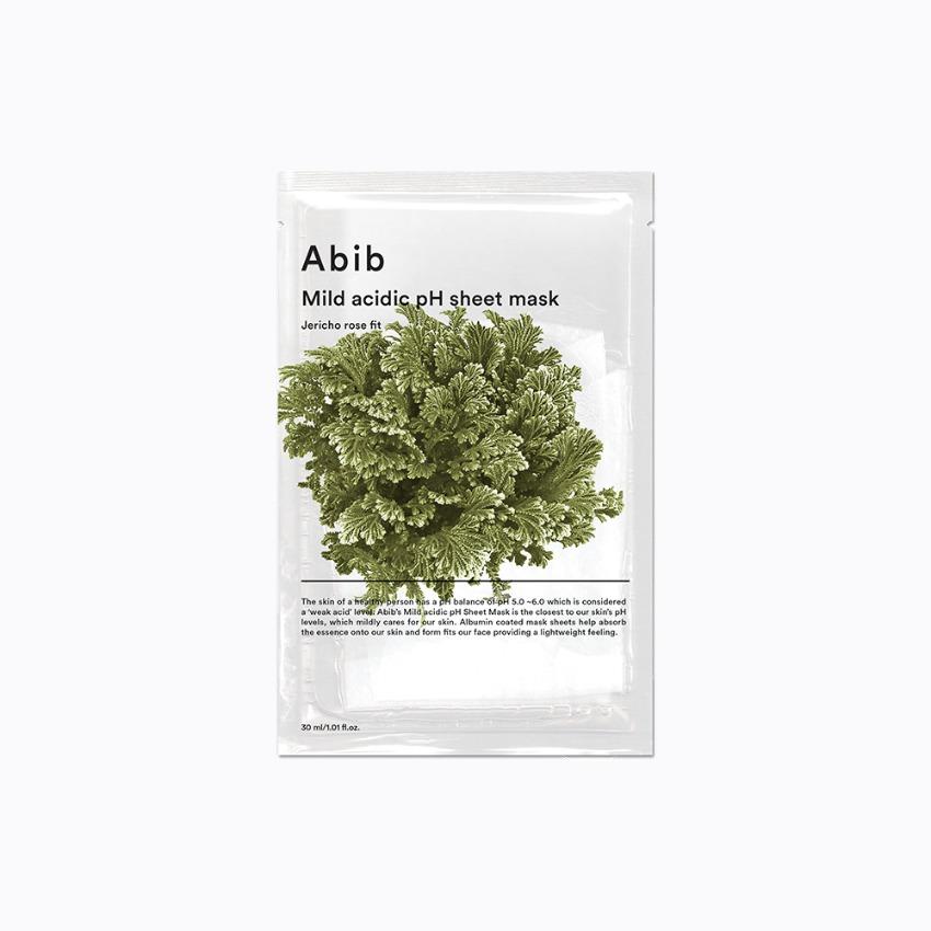 Mild acidic pH sheet mask