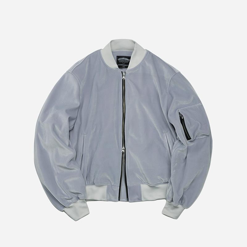 Velvet MA-1 flight jacket _ gray