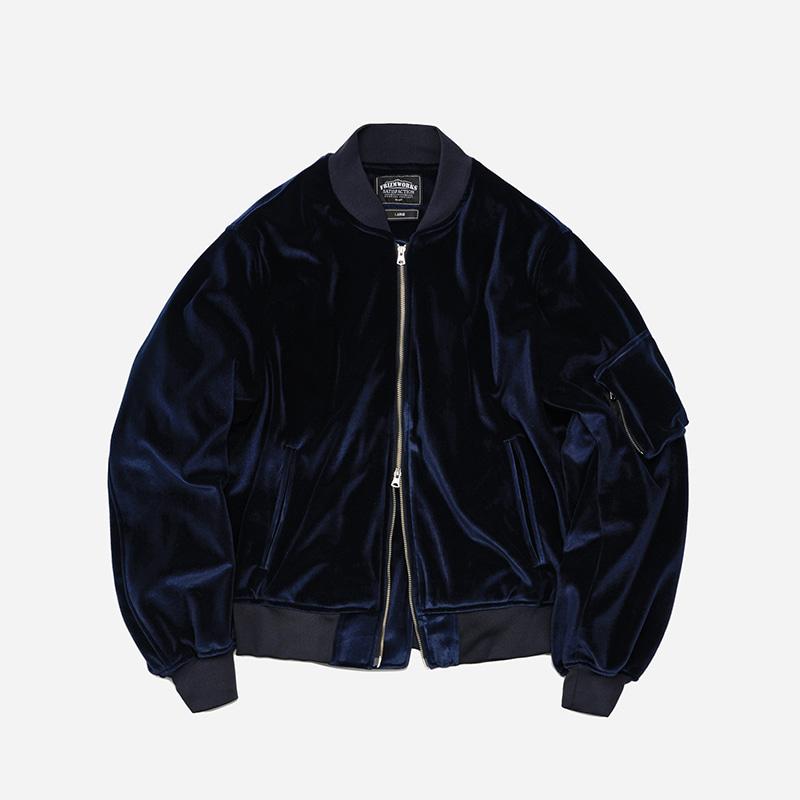 Velvet MA-1 flight jacket _ navy