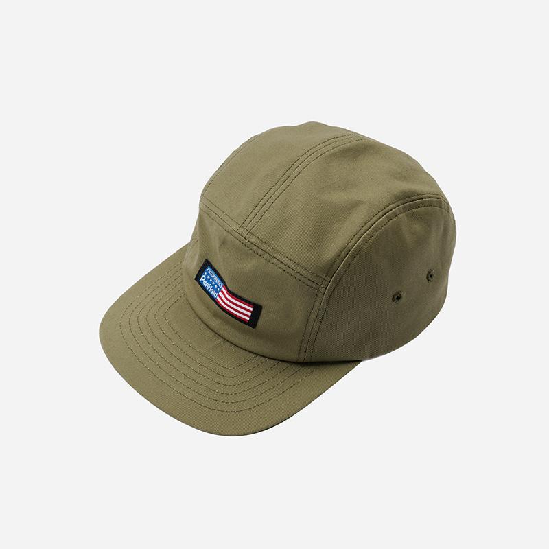 [PENFIELD X FRIZMWORKS] Flag logo camp cap _ light khaki