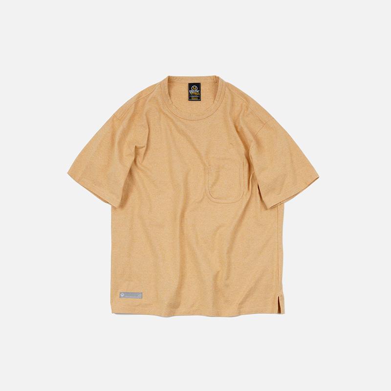 U Rib pocket tee 002 _ yellow