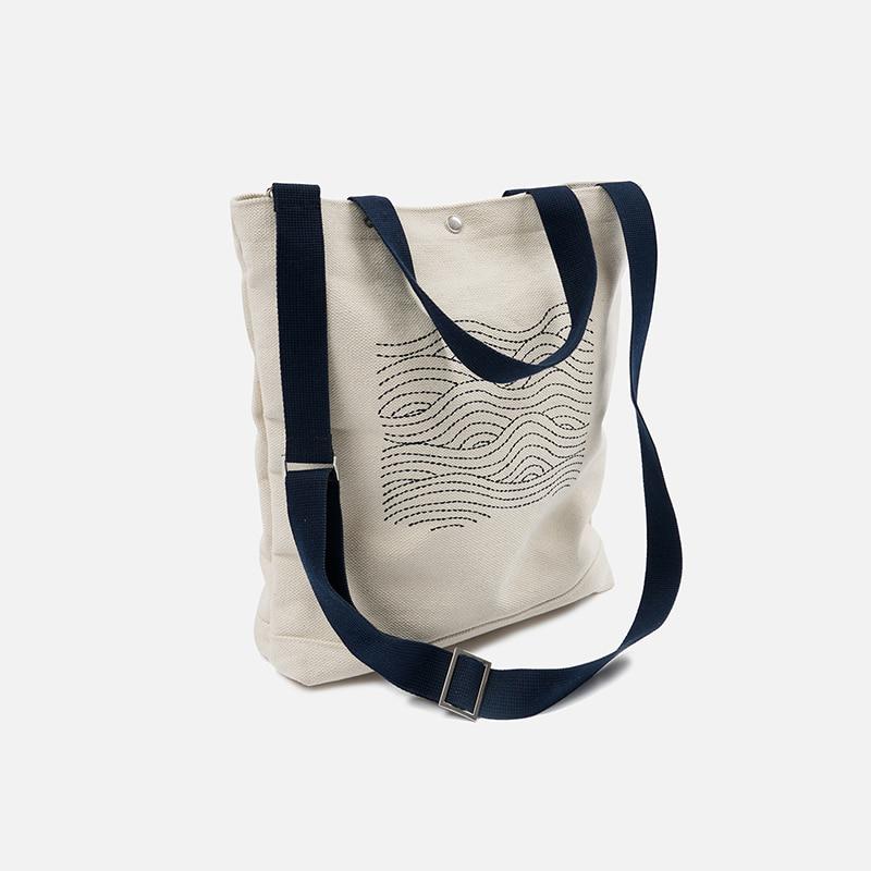 Heavy canvas needlework bag _ navy