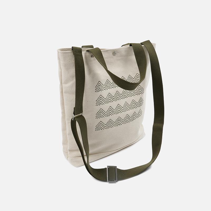 Heavy canvas needlework bag _ olive
