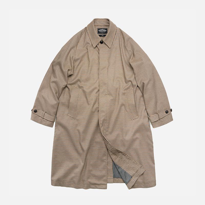 Oversized balmacaan coat _ houndtooth