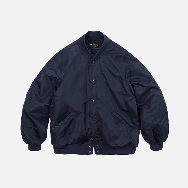 Nylon varsity jacket _ navy