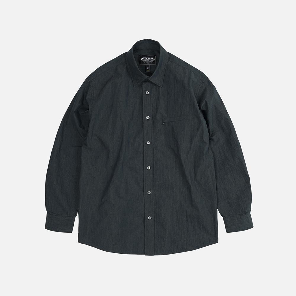 Nylon double vent shirt _ black