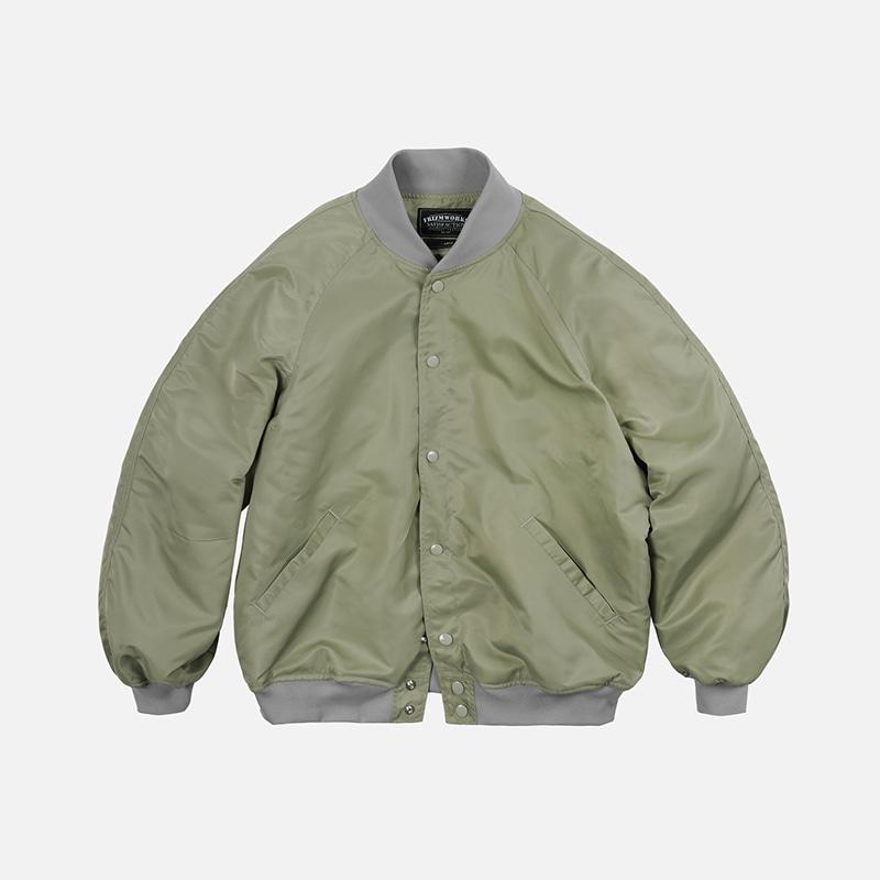 Nylon varsity jacket _ light khaki
