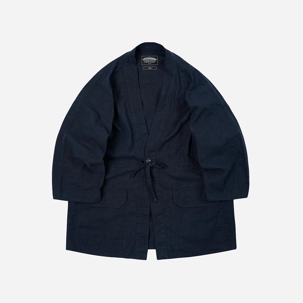 Linen durumagi jacket 002 _ navy