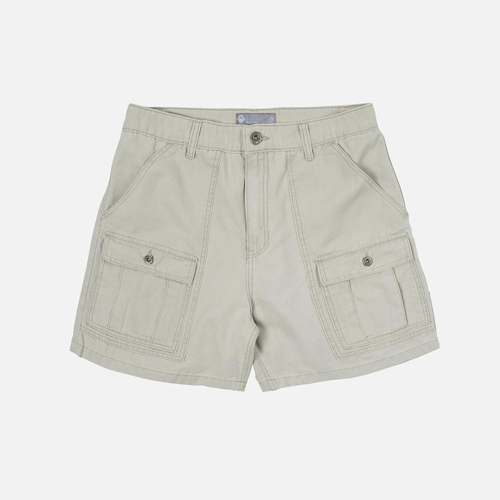 Pigment dyeing bush shorts _ beige