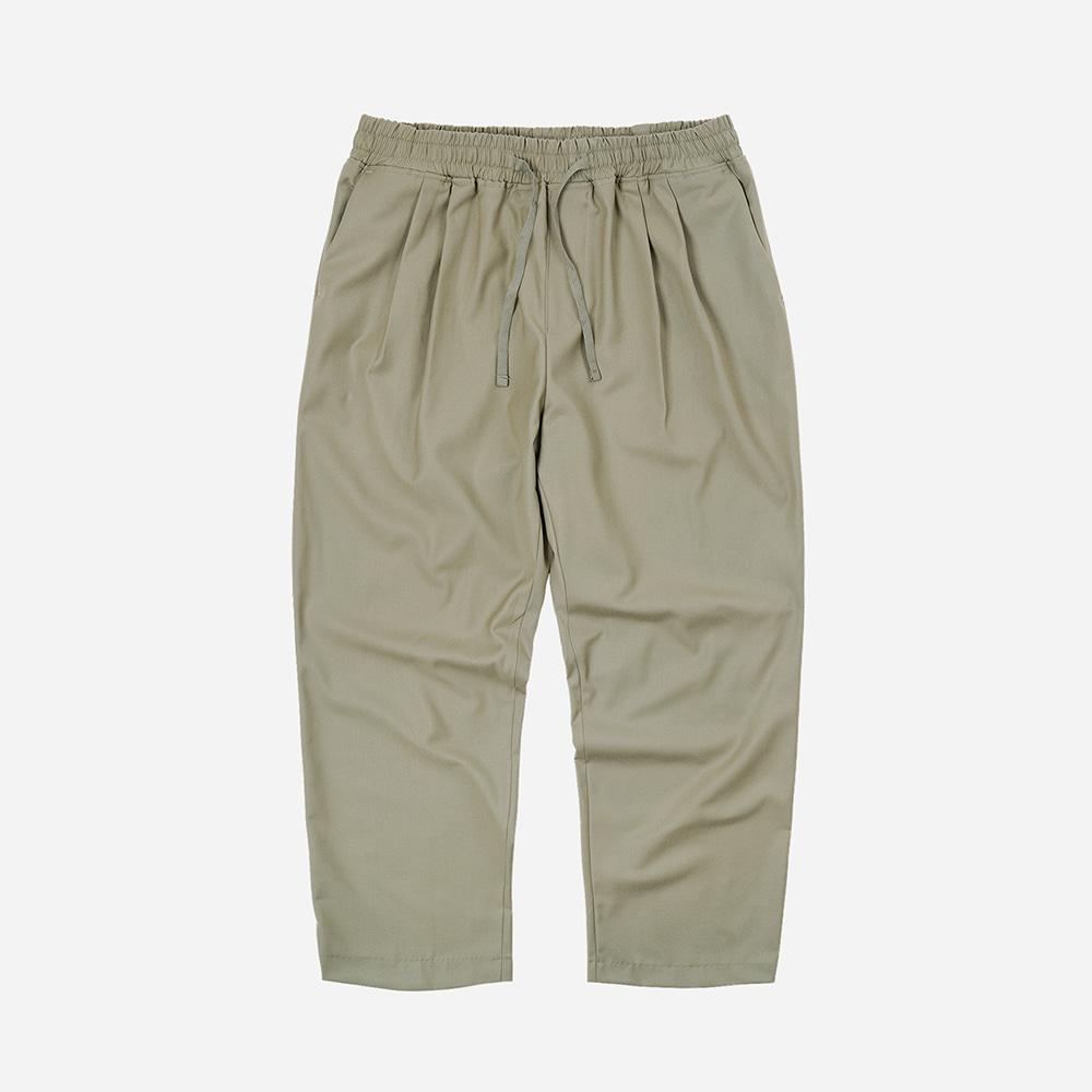Two tuck relax pants _ light khaki