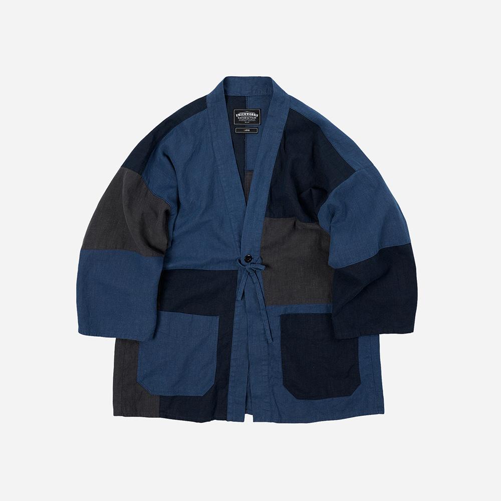 Linen durumagi jacket 002 _ mixed navy