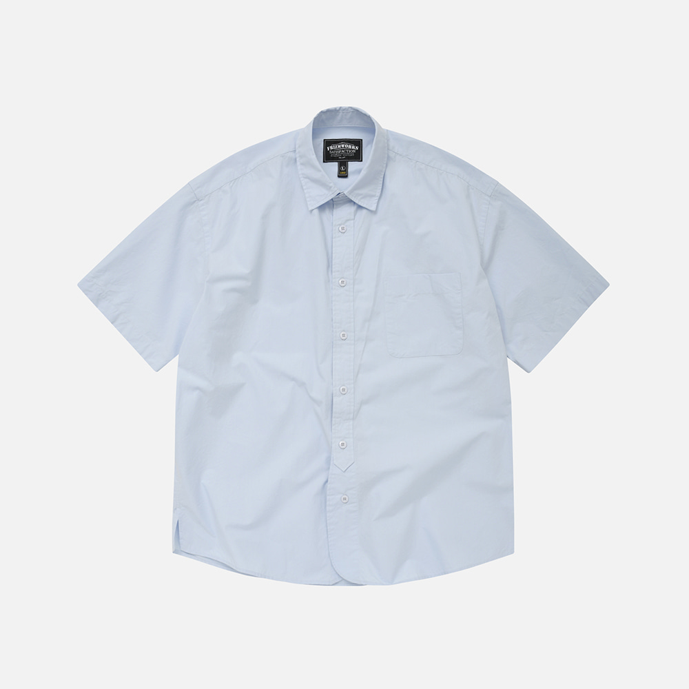 Rounding oversized shirt _ sky blue[예약 배송]6월 15일 순차배송