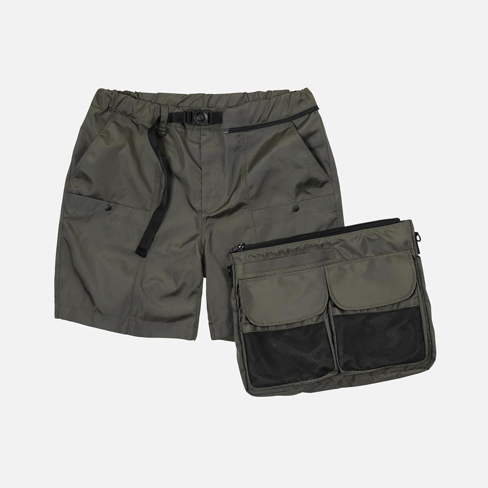Detachable bag shorts _ olive