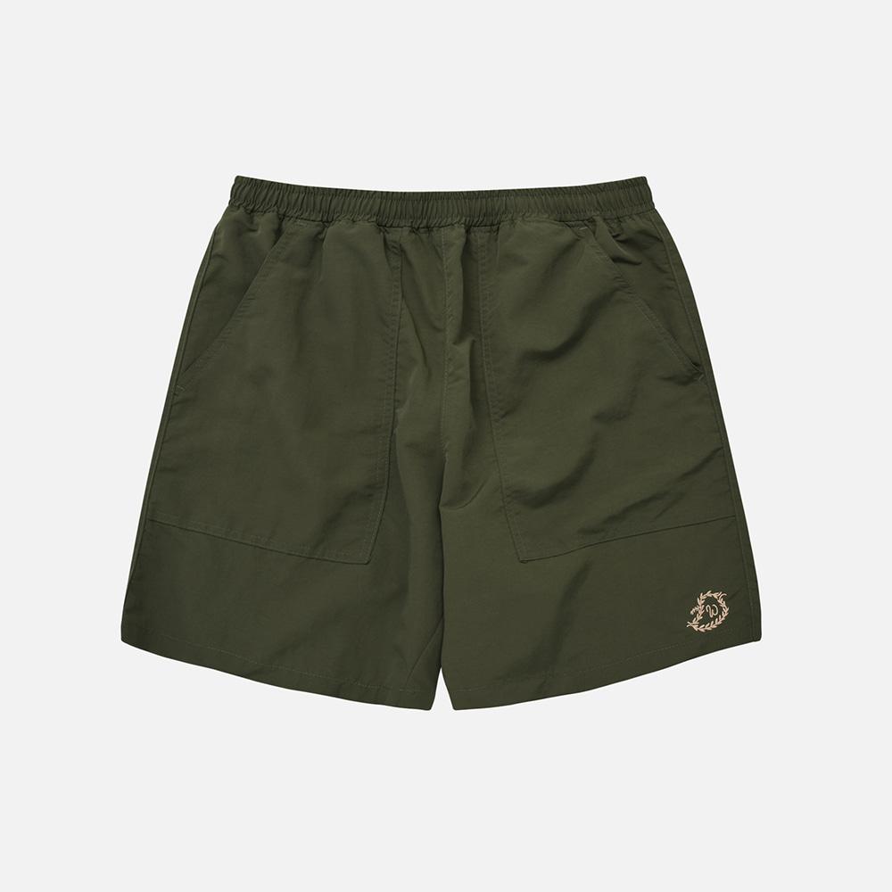 Nylon summer shorts _ olive