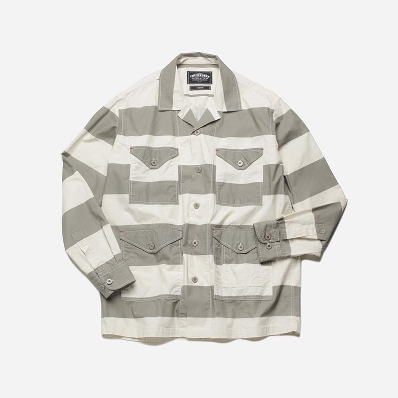 M65 shirt jacket _ stripe gray