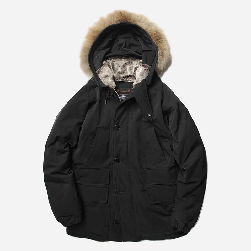 Heavy frost down parka _ black