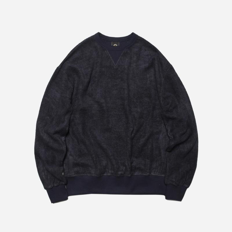 Bamboo yarn sweatshirt _ navy[프리즘웍스 X 허그플러스]