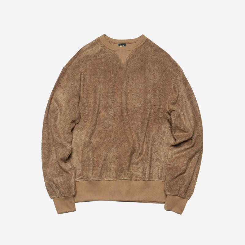 Bamboo yarn sweatshirt _ camel[프리즘웍스 X 허그플러스]