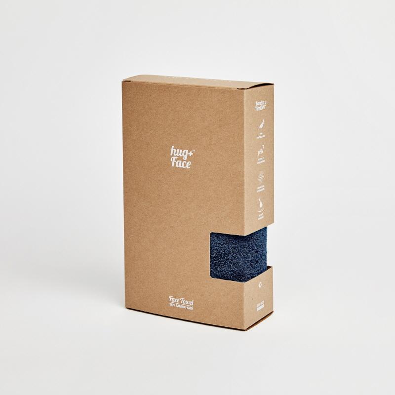 Bamboo yarn face towel _ navy[프리즘웍스 X 허그플러스]