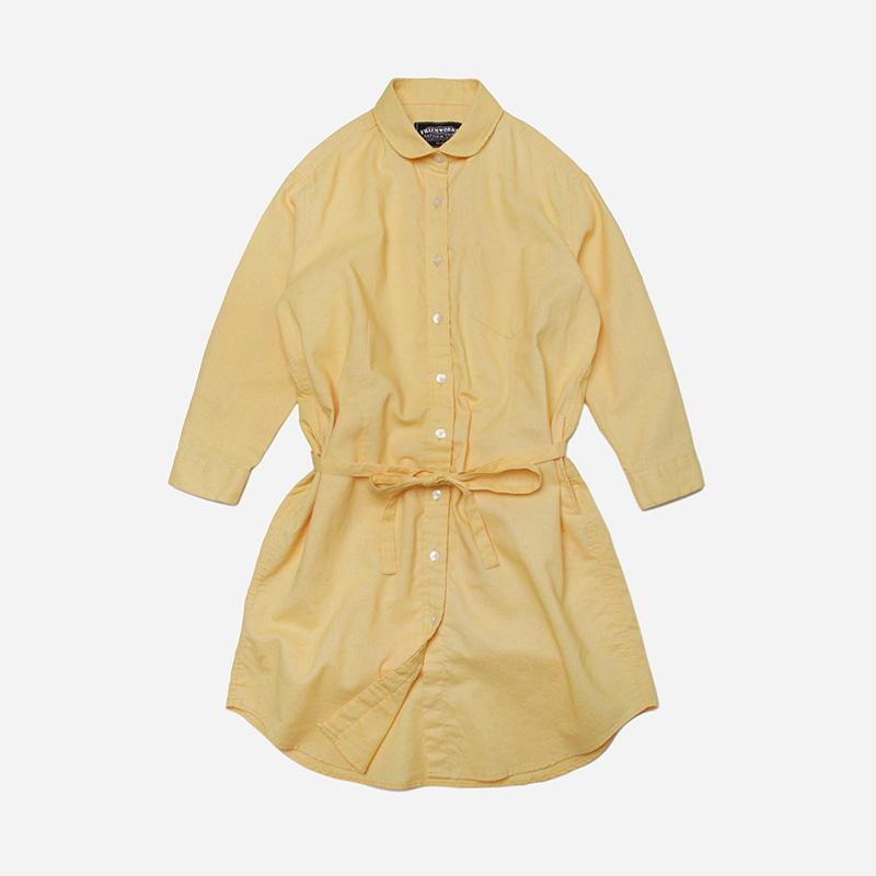 Round shirt one piece _ mustard