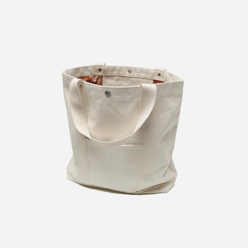 Paisley lining tote bag _ ivory