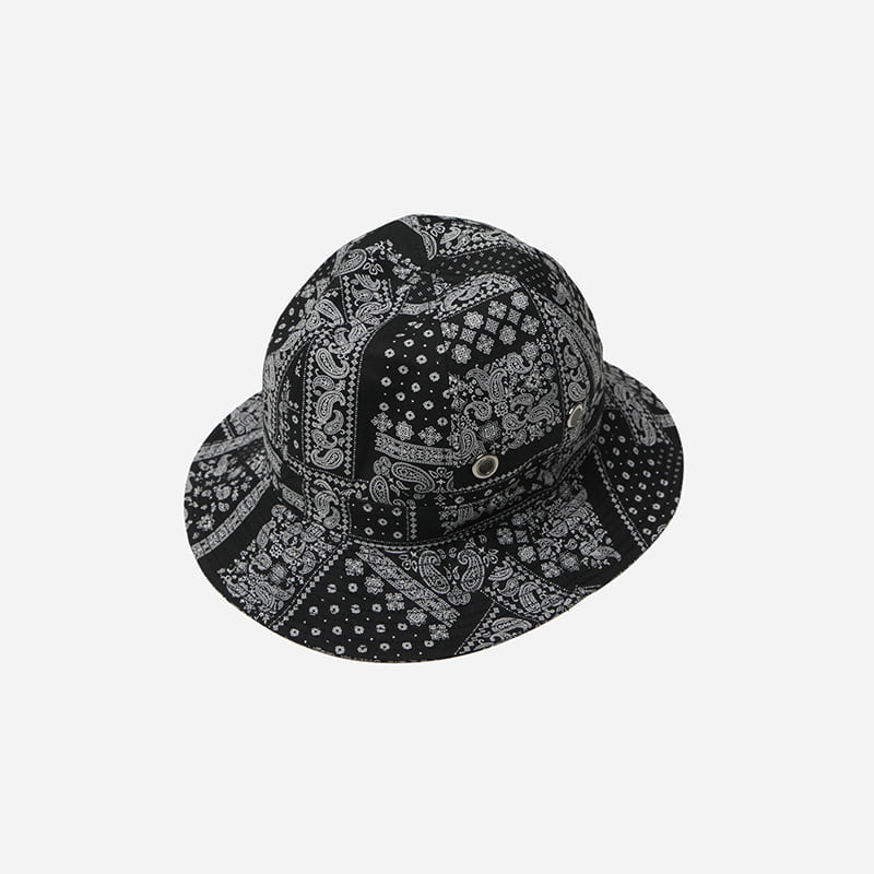 Imagination bucket hat _ paisley black