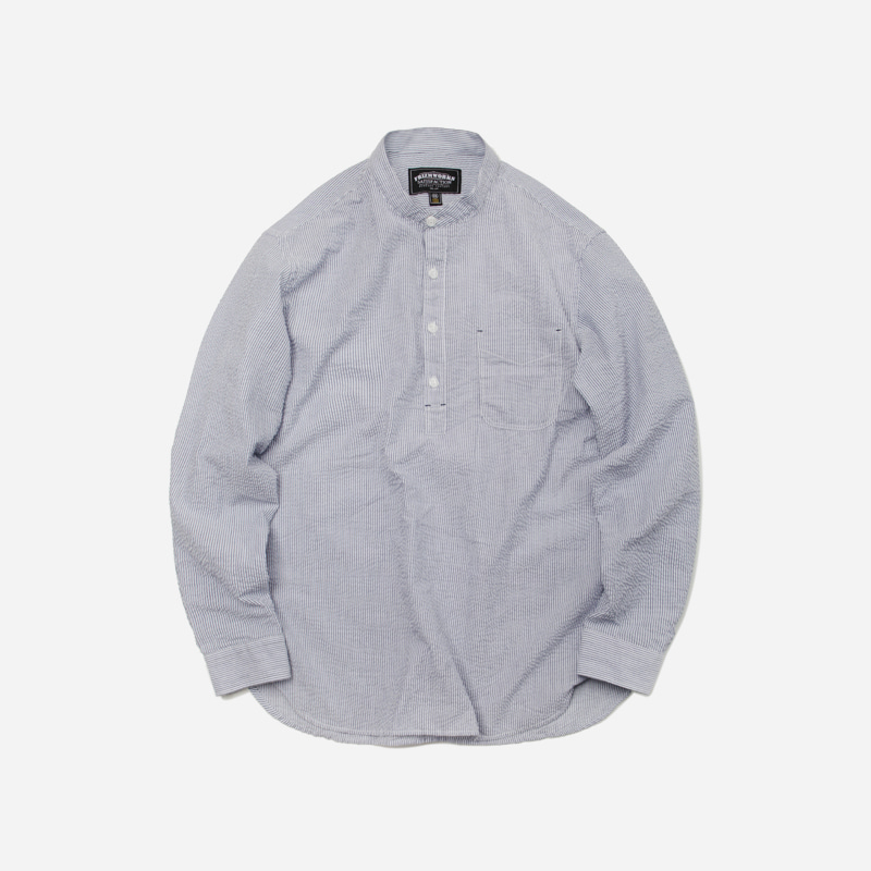 WELOVE Seersucker pullover shirt _ blue