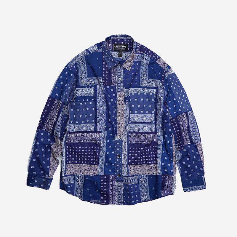 Bandana relax shirt _ blue