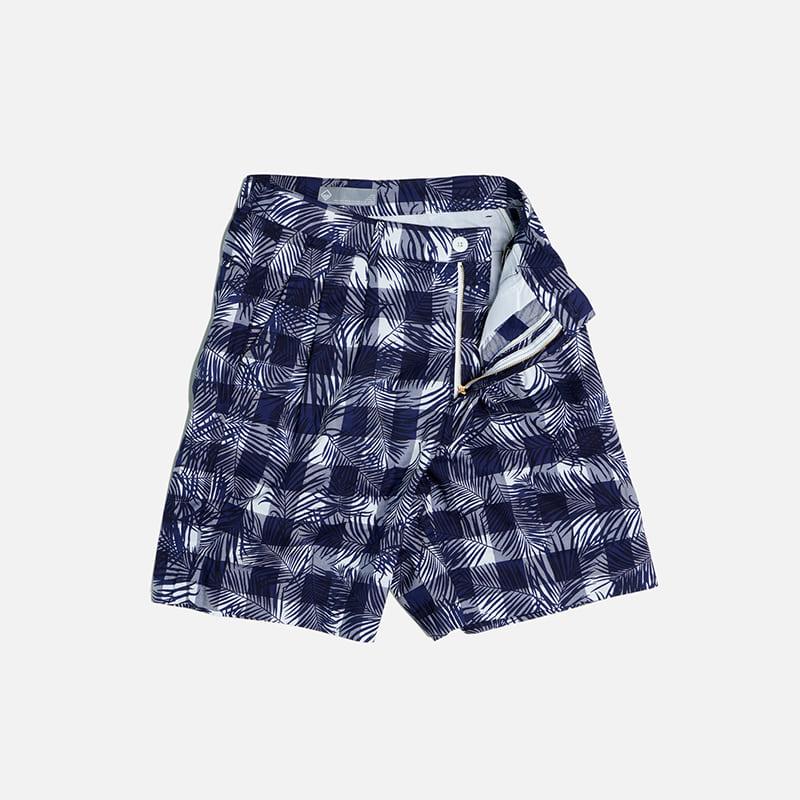 Variation check short pants _ checked palm