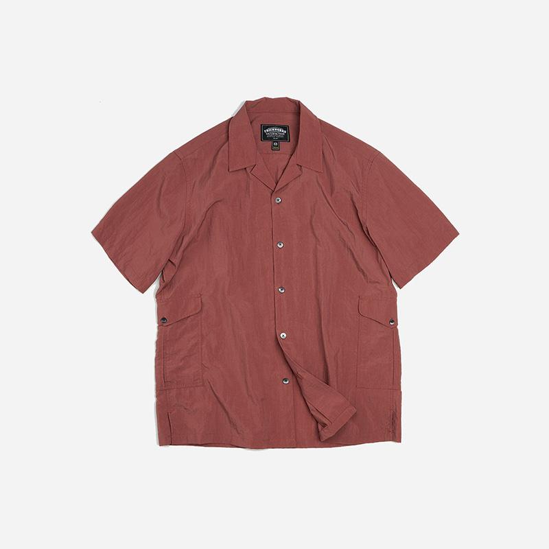 Side pocket nylon shirt _ indian pink