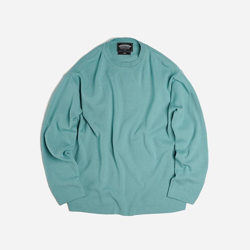 Round collar knit _ mint