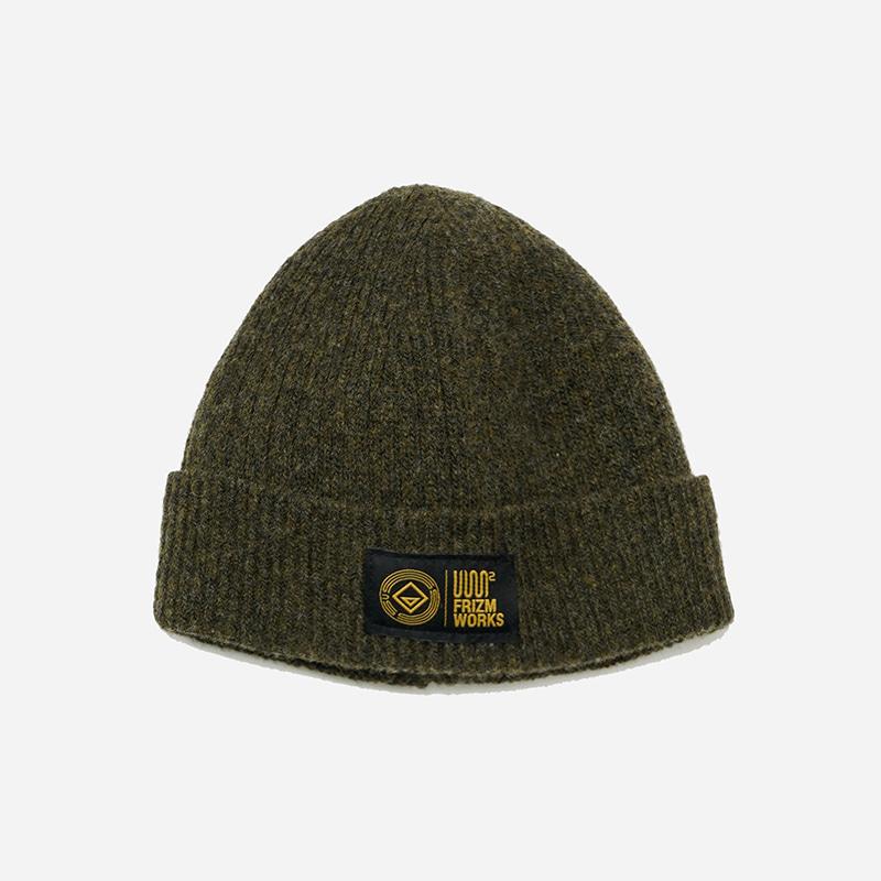 [USS2 X FRIZMWORKS]Wool watch cap _ olive
