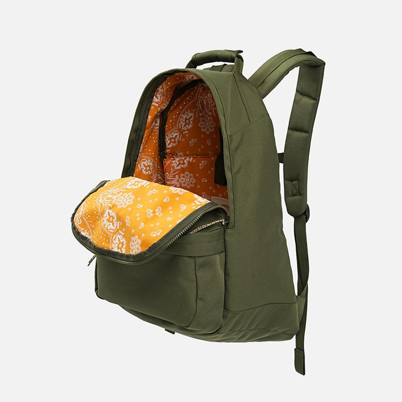 Bandana lining cordura backpack _ olive