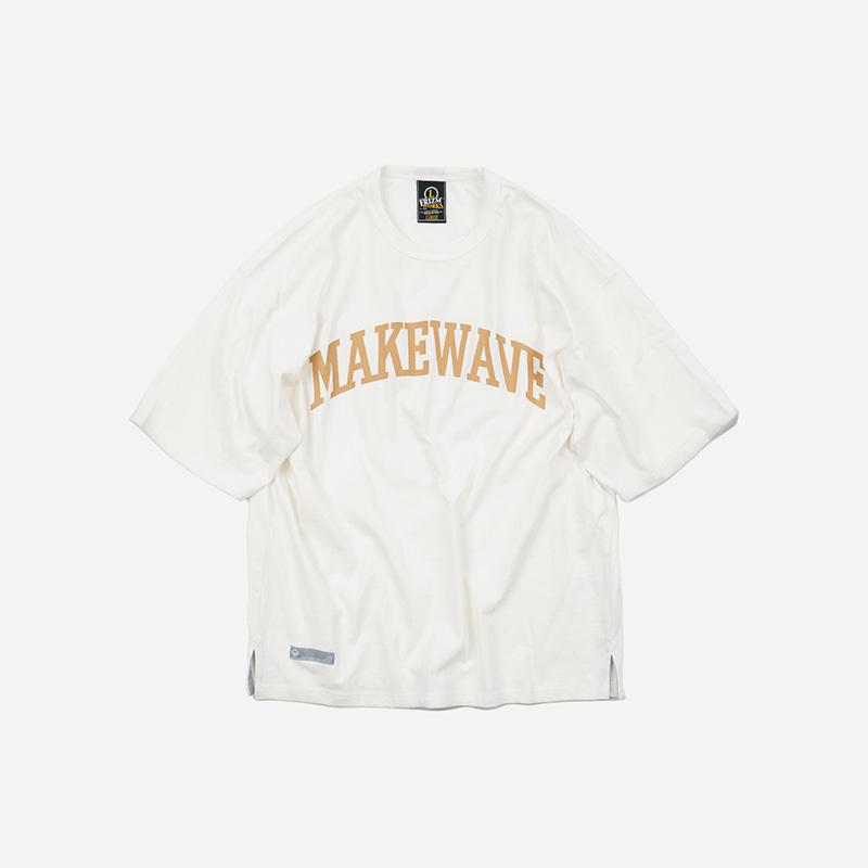 Make wave logo tee _ white