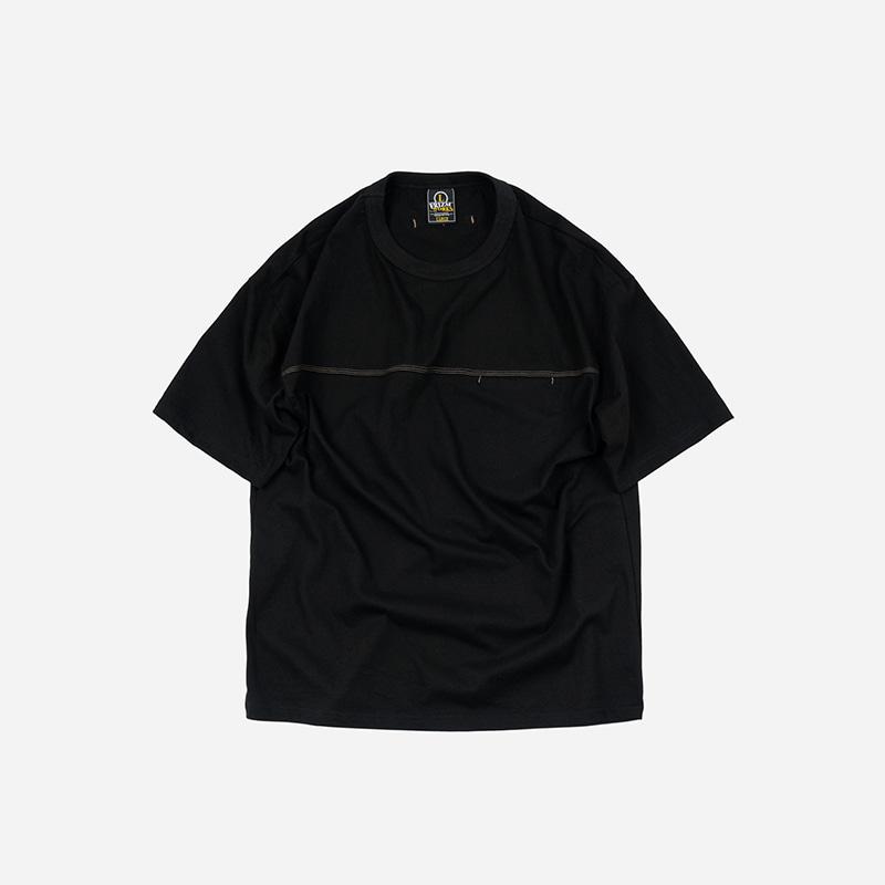 Triple stitch pocket tee _ black