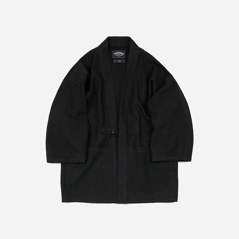 Linen durumagi jacket _ black