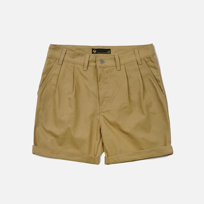 Two tuck work shorts _ beige