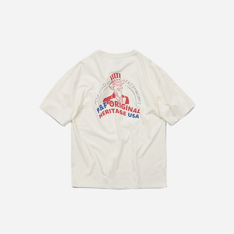 [PENFIELD X FRIZMWORKS] P&F Poster logo tee _ off white