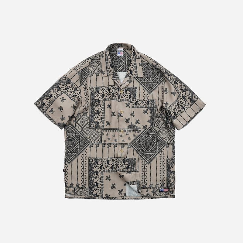 [PENFIELD X FRIZMWORKS] P&F Bandana shirt _ beige