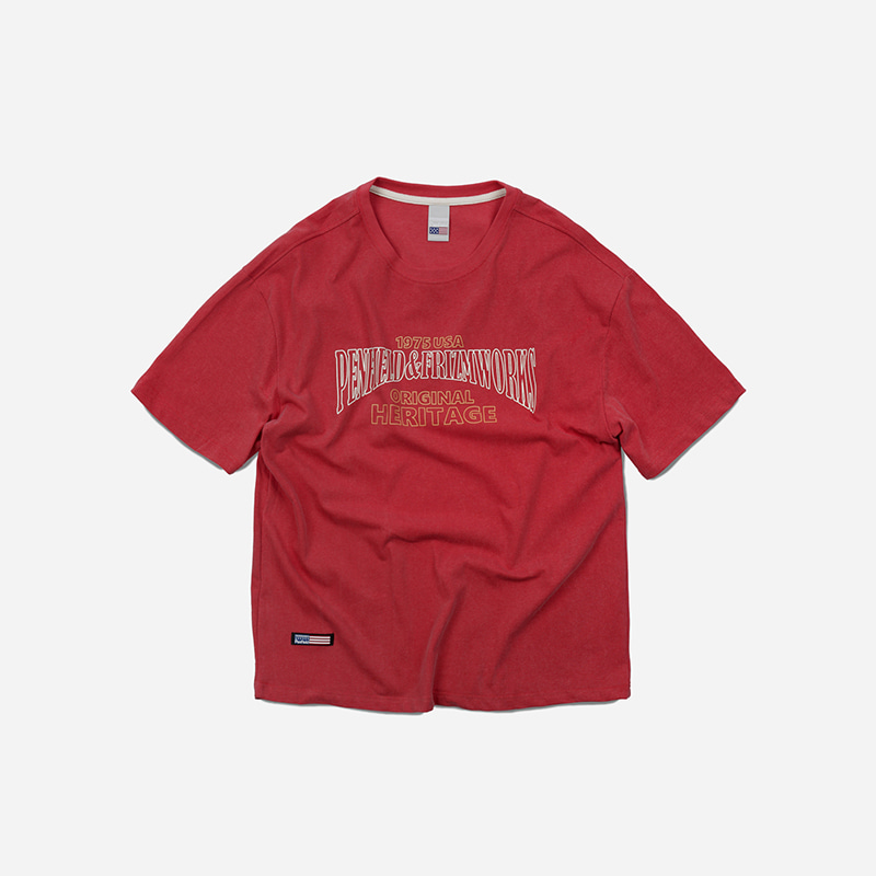 [PENFIELD X FRIZMWORKS] Original heritage logo tee _ red