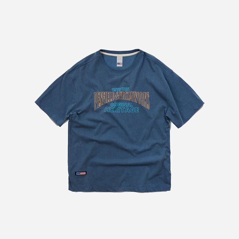 [PENFIELD X FRIZMWORKS] Original heritage logo tee _ navy