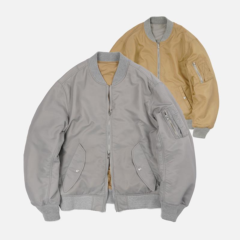 Reversible MA-1 flight jacket _ gray
