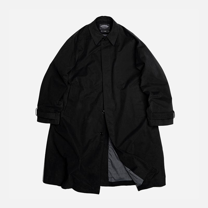 Oversized balmacaan coat _ black